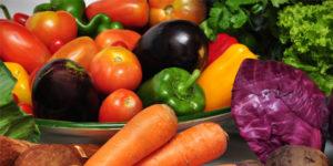 Menus escolares con verduras