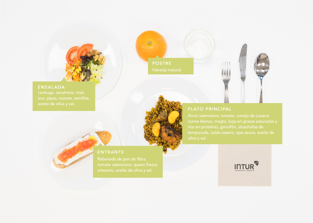 El plato saludable de Intur