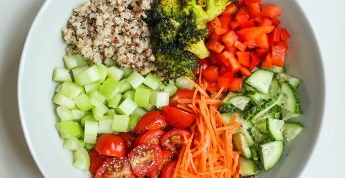 ensaladas de con muchos colores